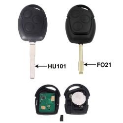 Llave Circuito Mando y Chip Transponder Ford 3 Botones Ref. G