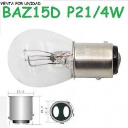 Bombilla P21/4W S25 BAZ15d 7225 Luz Posición y Freno Halógena