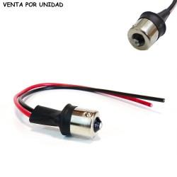 Conector Macho bombilla BA15S 1156 S25 P21W Cableado