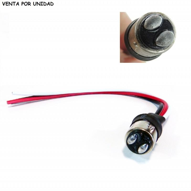 Conector Macho bombilla BAY15D 1157 S25 P21/5W Cableado