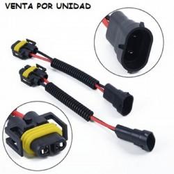 Cable Conector Macho Hembra Bombilla H8 H9 H11 Estandar