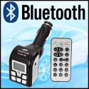 TRANSMISOR FM BLUETOOTH MP3, MANOS LIBRES USB-SD