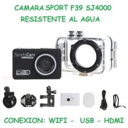 CAMARA SPORT RESISTENTE AL AGUA SJ4000 F39 WiFi, HDMI.