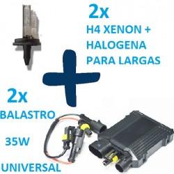 KIT 2 H4 XENON 5000K 35W