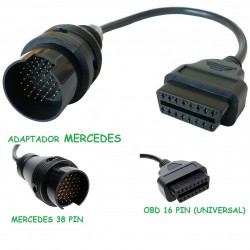 ADAPTADOR OBD MERCEDES 38 PIN