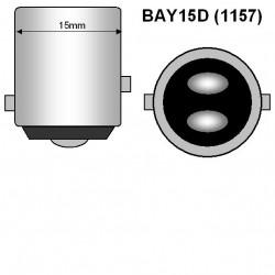 BOMBILLA 1157 BAY15D 22 SMD LED