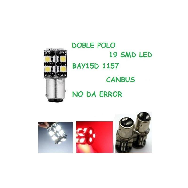 BOMBILLA LED CANBUS BAY15D 1157 19 SMD LED 5050