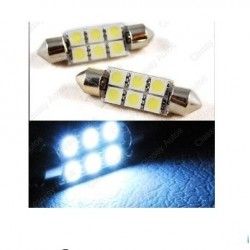 BOMBILLA FESTOON 6 SMD LED 31 MM C5W