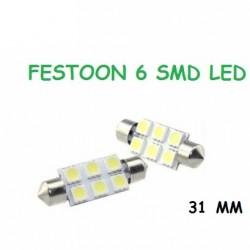 BOMBILLA FESTOON 6 SMD LED 31 MM C5W