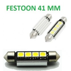 BOMBILLA LED FESTOON C10W CANBUS 41 MM 4 SMD LED
